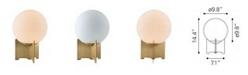 American Heritage Billiards Pearl Table Lamp White & Brushed Bronze