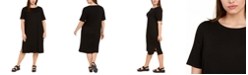 Eileen Fisher Plus Size Round-Neck Shift Dress