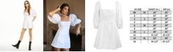 Danielle Bernstein Puff Sleeve Mini Dress, Created for Macy's