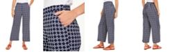 Charter Club Petite Tyler Printed Pull-On Pants, Created for Macy's