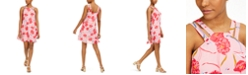 Bar III Printed Trapeze Dress, Created for Macy's