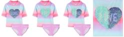 Carter's Little & Big Girls 2-Pc. Sequin Love Swimsuit