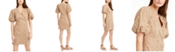 INC International Concepts INC Puff-Sleeve Eyelet Dress, Created for Macy's