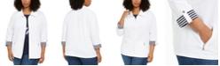 Karen Scott Plus Size Wing-Collar Jacket, Created for Macy's