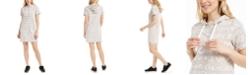 Calvin Klein Brushed-Logo Hoodie Dress