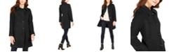 Anne Klein Petite Single-Breasted Club-Collar Coat