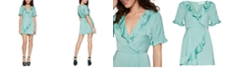 BCBGeneration Ruffled Satin Mini Dress