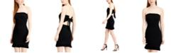 City Studios Juniors' Strapless Tie-Back Ruffle Dress