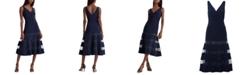 Lauren Ralph Lauren Tulle-Panel Cocktail Dress