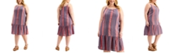 Style & Co Plus Size Striped Drop-Waist Dress, Created for Macy's