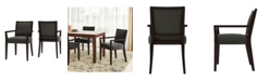Handy Living Brandy Upholstered Arm Dining Chair Set of 2
