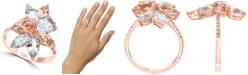 LALI Jewels Aquamarine (2-5/8 ct. t.w.) & Morganite (2-1/4 ct. t.w.) Statement Ring 14k Rose Gold