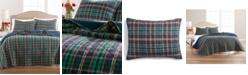 Martha Stewart Collection Collegiate Plaid Flannel Quilt and Sham Collection