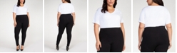 Black Tape Plus Size Basic Pull-On Leggings