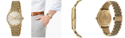 Gucci Women's Swiss G-Timeless Slim Gold-Tone PVD Stainless Steel Bracelet Watch 36mm