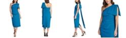 Eliza J One-Shoulder Bow-Detail Sheath Dress