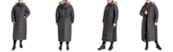Michael Kors Plus Size Maxi Faux-Fur Trim Hooded Down Puffer Coat, Created for Macy's