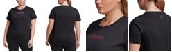 adidas Essentials Plus Size Cotton Linear T-Shirt
