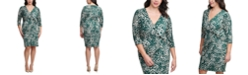 Jessica Howard Plus Size Side-Twist Sheath Dress