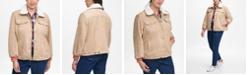Tommy Hilfiger Plus Size Faux-Fur-Trim Jacket
