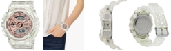 G-Shock Women's Analog-Digital Clear Resin Strap Watch 45.9mm