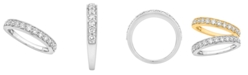 Macy's Certified Diamond Pave Band 3/4 ct. t.w. in 14k White or Yellow Gold