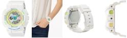 G-Shock Women's Analog-Digital White Resin Strap Watch 43mm