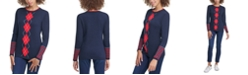 Tommy Hilfiger Lucy Cotton Argyle Sweater