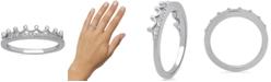 Enchanted Disney Fine Jewelry Enchanted Disney Fine Jewelry Diamond Tiara Ring (1/10 ct. t.w.) in 10k White , Yellow or Rose Gold