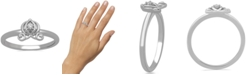 Enchanted Disney Fine Jewelry Enchanted Disney Fine Jewelry Diamond Accent Cinderella Carriage Ring in 10k White Gold