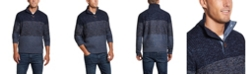 Weatherproof Vintage Men's Button Mock Ombre Sweater