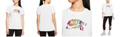 Nike Women's Sportswear Cotton Logo-Graphic T-Shirt