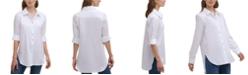 Calvin Klein Non-Iron Button-Down Tunic