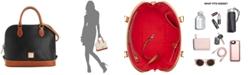 Dooney & Bourke Pebble Leather Zip Top Satchel