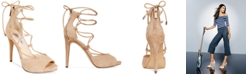 INC International Concepts I.N.C. Sabba Peep-Toe Lace-Up Pumps, Created for Macy's