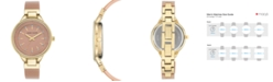 Anne Klein Women's Pink and Gold Shimmer Resin Bangle Bracelet Watch 36mm