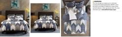 INK+IVY Alpine Cotton Reversible Full/Queen Chevron Stripe Print Duvet Mini Set