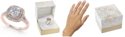 Charter Club Double Halo Crystal Center Ring, Created for Macy's