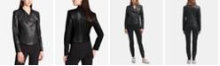 DKNY Faux-Leather Moto Jacket