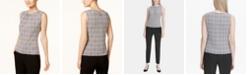 Calvin Klein Petite Sleeveless Pleated Top