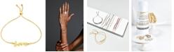 Macy's Love Script Bolo Bracelet in 10k Gold