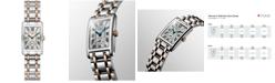 Longines Women's Swiss DolceVita 18K Gold & Stainless Steel Bracelet Watch 20.5mmx32mm