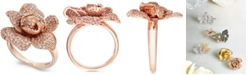 EFFY Collection Pave Rose by EFFY Diamond Ring in 14k Rose Gold (1-1/8 ct. t.w.)