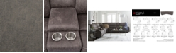 "Furniture Felyx 97"" 3-Pc. Fabric Power Reclining Sofa With 2 Power Recliners, Power Headrests, Console And USB Power Outlet"