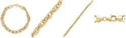 Macy's Interlocking Oval Link Chain Bracelet in 14k Gold