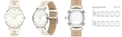 COACH Women's Perry Chalk Leather Strap Watch 36mm Created for Macy's