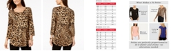 JM Collection 3/4-Sleeve Printed Top, In Regular and Petite, Created for Macy's