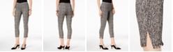 Alfani Tweed Fringe-Hem Ankle Pants, Created for Macy's