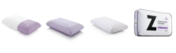 Malouf Z Zoned Lavender Mid Loft Queen Pillow with Aromatherapy Spray
