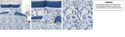 Laura Ashley Full/Queen Elise Navy Comforter Set